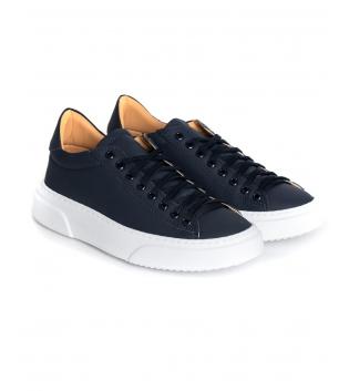 Sneakers Uomo Scarpe Sportive Gommate Street Tinta Unita Blu Casual GIOSAL