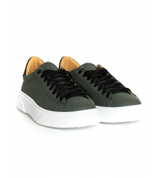 Sneakers Uomo Scarpe Sportive Gommate Street Tinta Unita Verde Casual GIOSAL