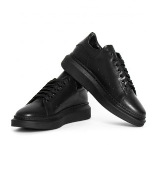 Sneakers Uomo Scarpe Nere Casual Ecopelle Sportive Street  GIOSAL