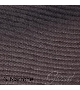 Tessuto Arredo Made In Italy Puro Cotone Tinta Unita Safari Rivestimento Vari Colori GIOSAL-Marrone-Al-metro