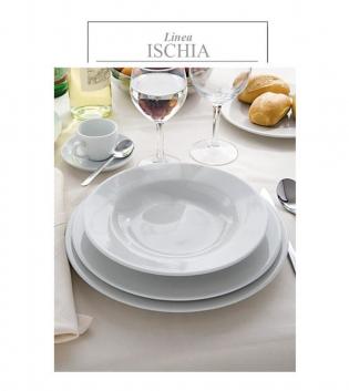 Piatto Linea Ischia Fondo Porcellana Bianco Confezione Da 12 DM 23 GIOSAL
