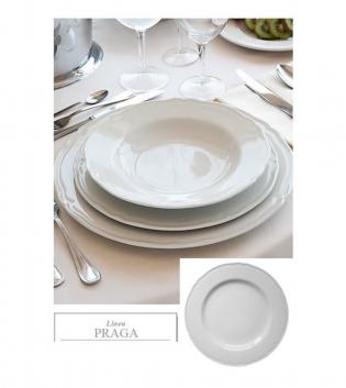 Piatto Fondo Linea Praga Confezione Da 12 Bianco Porcellana DM 23 GIOSAL