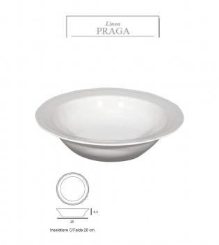 Insalatiera Praga Bianco DM 26 Porcellana Accessori da Tavola GIOSAL