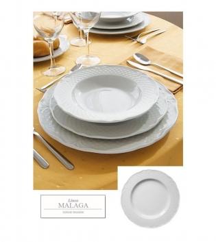 Piatto Malaga Bianco Fondo Confezione Da 12 Bianco Porcellana DM 23 GIOSAL