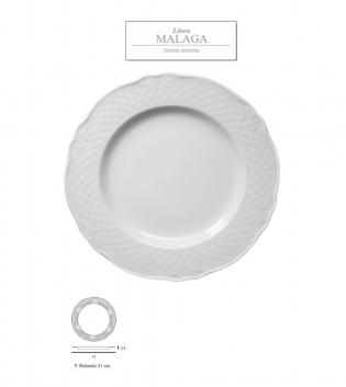 Piatto Malaga Bianco Tondo DM 31 Porcellana Accessori da Tavola GIOSAL