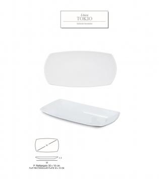 Piatto Linea Tokyo Rettangolo 30x18 Porcellana Bianco Accessori Da Tavola GIOSAL