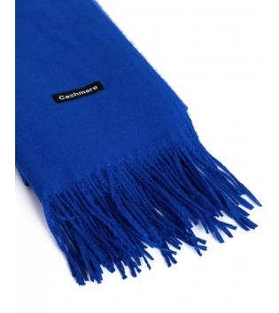 Sciarpa Unisex Uomo Donna Tinta Unita Blu Royal Casual Frange Morbida Basic GIOSAL