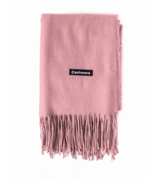 Sciarpa Unisex Uomo Donna Tinta Unita Rosa Casual Frange Morbida Basic GIOSAL