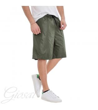 Costume Da Bagno Uomo Bermuda Tinta Unita Vari Colori Boxer Summer GIOSAL SU1064A-Verde-S