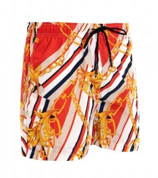 Costume Da Bagno Uomo Summer Mare Boxer Fantasia Rosso GIOSAL