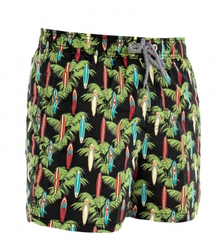 Costume Boxer Summer Uomo Pantaloncini Da Bagno Elastico Multicolore Fantasia GIOSAL