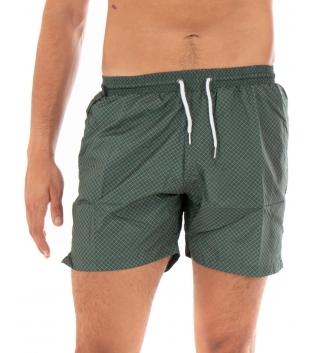 Costume Uomo Boxer Verde Elastico Microfantasia Casual Summer GIOSAL