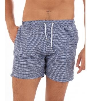 Costume Uomo Boxer Blu Elastico Microfantasia Casual Summer GIOSAL