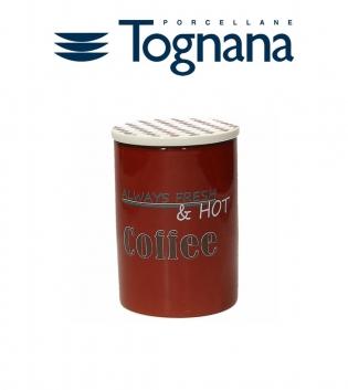 Barattolo Caffe Coperchio Dolce Vintage Tognana Porcellana Bordeaux GIOSAL