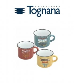 Tazza Caffè Multicolor Vintage Des Arts Senza Piattino Tre Colori 100cc Tognana Porcellana GIOSAL