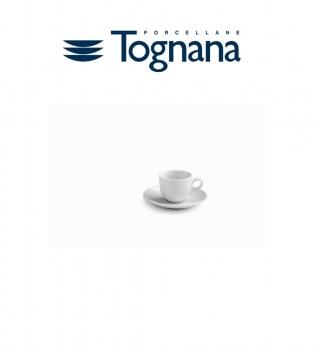 Tazzine Da Caffè Confezione Da 6 Tognana Porcellana Bianco Con Piattino GIOSAL