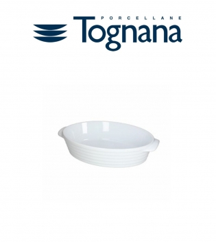 Pirofila Ovale 28.3X17. H 7.5 Rings Tognana Porcellana Bianco GIOSAL