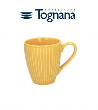 Tazza Mug 430cc Relief Djerba Tognana Ceramica Giallo GIOSAL