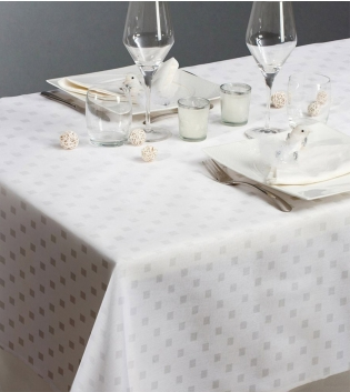 Tovaglia Damina Maestri Cotonieri Puro Cotone Vari Colori X6 150x180cm GIOSAL-Bianco