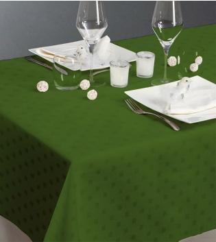 Tovaglia Damina Maestri Cotonieri Puro Cotone Vari Colori X24 180x450cm GIOSAL-Verde Scuro