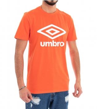 T-Shirt Uomo Maglia Umbro Arancione Girocollo Stampa RAP00039B GIOSAL