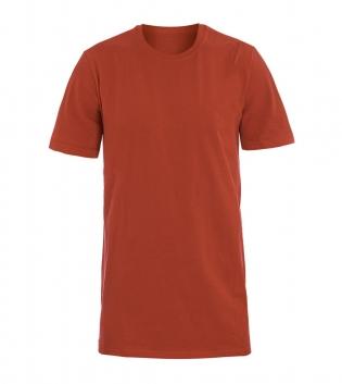 T-Shirt Uomo Mezza Manica Girocollo Cotone Girocollo Mattone Basic GIOSAL