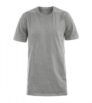 T-Shirt Uomo Mezza Manica Girocollo Cotone Girocollo Grigio Basic GIOSAL