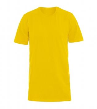 T-Shirt Uomo Mezza Manica Girocollo Cotone Girocollo Giallo  Basic GIOSAL
