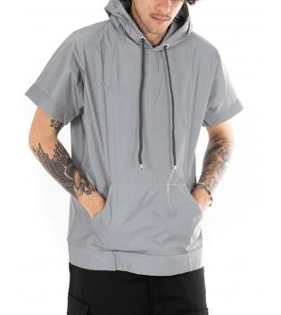 T-shirt Uomo Reflective Cappuccio Maniche Corte Cataringrangente Casual GIOSAL