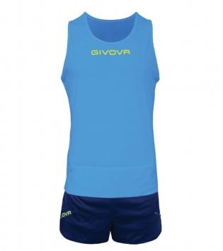 Kit New York GIVOVA Unisex Uomo Donna Athletics Running Sport Sportivo GIOSAL-Turchese/Blu-XS