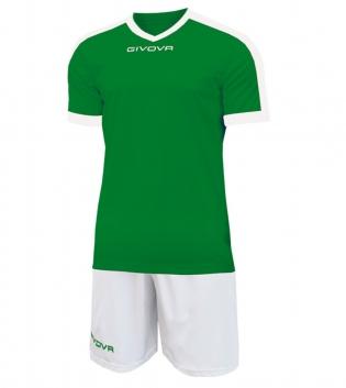 Kit Revolution Calcio Sport GIVOVA Abbigliamento Sportivo Uomo Calcistico GIOSAL-Verde-Bianco-3XS