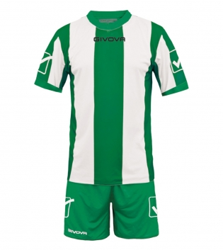 Kit Uomo Calcio Completino Sport Catalano Sportivo GIVOVA Uomo GIOSAL-Verde-Bianco-XL