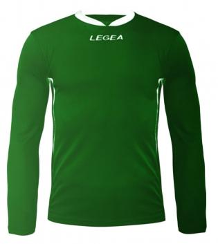 Maglia Uomo Calcio Sport LEGEA Dusseldorf Manica Lunga BOX 10 PEZZI Uomo Bambino GIOSAL-Verde-Bianco-2XS