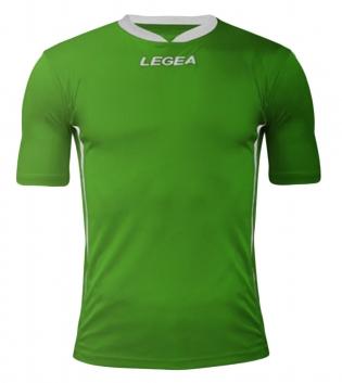 Maglia Uomo Calcio LEGEA Dusseldorf Manica Corta BOX 10 PEZZI Uomo Bambino GIOSAL-Verde-Bianco-3XS