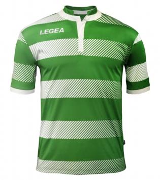Maglia Uomo Sport LEGEA Calcio Edimburgo Abbigliamento Sportivo Uomo Bambino GIOSAL-Verde-Bianco-S