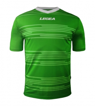 Maglia Uomo Calcio Sport Ankara Abbigliamento Sportivo Uomo Bambino Manica Corta GIOSAL-Verde-Bianco-3XS