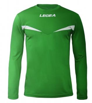 Maglia Uomo Calcio Sport Vienna LEGEA Uomo Bambino Sportivo Manica Lunga GIOSAL-Verde-Bianco-3XS