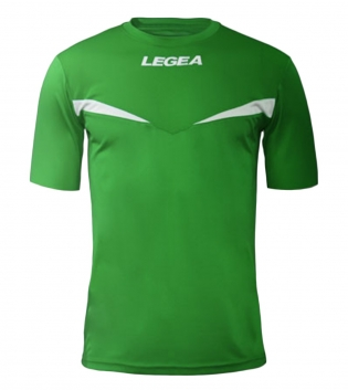 Maglia Sport Calcio Pristina LEGEA Manica Corta Uomo Bambino GIOSAL-Verde-Bianco-2XS