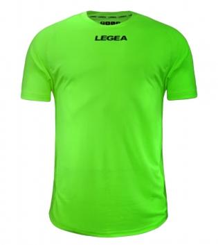 Maglia Calcio Sport LEGEA Crimea Abbigliamento Uomo Bambino Sportivo Calcistico GIOSAL-Verde Fluo-S