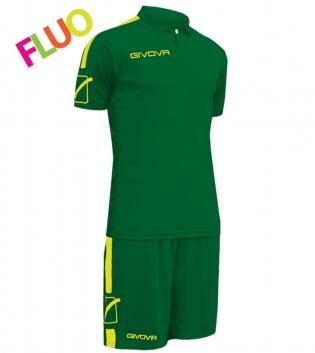 Kit Play Calcio Sport GIVOVA Abbigliamento Sportivo Uomo Calcistico GIOSAL-Verde-GialloFluo-M