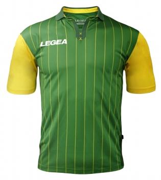 Maglia Uomo Calcio Sport LEGEA Lisbona Abbigliamento Sportivo GIOSAL-Verde-Giallo-S