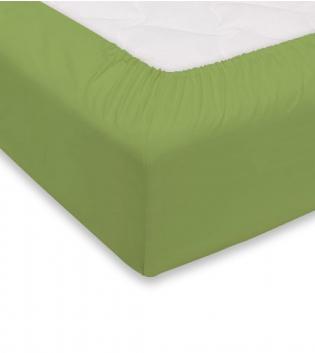 Lenzuolo Sotto Maestri Cotonieri Con Angoli Cotone 1,5 Piazze 140x200cm Vari Colori GIOSAL-Verde Mela