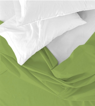 Lenzuolo Sopra Maestri Cotonieri Matrimoniale 250x290cm Cotone Tinta Unita Vari Colori GIOSAL-Verde Mela