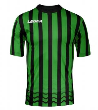 Maglia Uomo Calcio Sport LEGEA Salonicco GOLD Uomo Bambino Sportivo GIOSAL-Verde-Nero-S