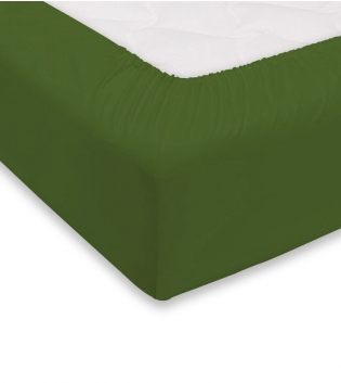 Lenzuolo Sotto Maestri Cotonieri Con Angoli Cotone Matrimoniale Maxi 180x220cm Vari Colori GIOSAL-Verde Scuro