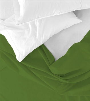 Lenzuolo Sopra Maestri Cotonieri Matrimoniale Maxi 270x290cm Cotone Tinta Unita Vari Colori GIOSAL-Verde Scuro