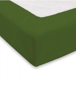 Lenzuolo Sotto Maestri Cotonieri Con Angoli Cotone Singolo 90x200cm Vari Colori GIOSAL-Verde Scuro