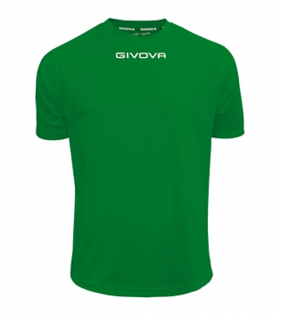 Maglia Calcio Sport GIVOVA One T-Shirt Uomo Donna Bambino Maglietta Abbigliamento Sportivo GIOSAL-Verde-4XS