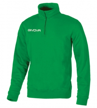 Maglia Tecnica GIVOVA Half Zip Unisex Vari Colori Sport Training Relax Comfort GIOSAL-Verde-3XS