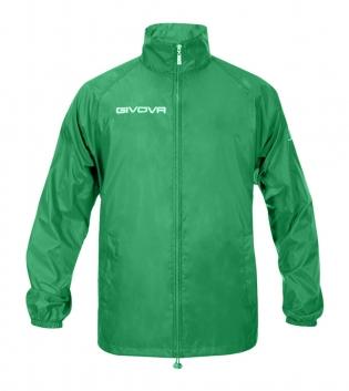 Giacca Jacket GIVOVA Rain Basic Anti Pioggia Uomo Donna Bambino Giubbotto Sport GIOSAL-Verde-3XS